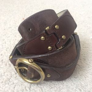 Cole Haan Leather and Suede Hinge Belt